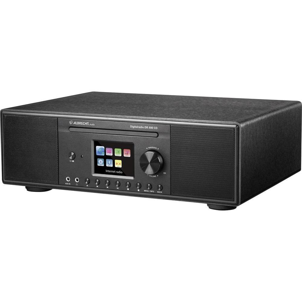 albrecht dr 890 cd hybride dab internet fm radio speler. Black Bedroom Furniture Sets. Home Design Ideas