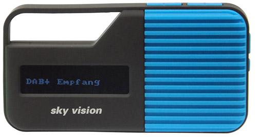 Sky Vision DAB 11B DAB/DAB+ Digital Mini Radio-Blauw Geluid