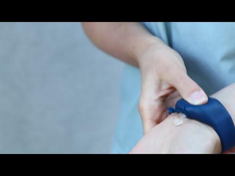 SqueezyBand - Antibacteriële - Desinfectie Armband - Verstelbaar -Wit
